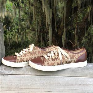 Michael Kors MK City Sneaker Brown and Tan